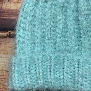 1be8f00dd7c Accessories - Mint Tiffany Blue Sparkly PomPom Beanie Winter Hat